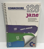 Commodore 128 Jane Software Integrated Word Processor Spreadsheet MANUAL ONLY