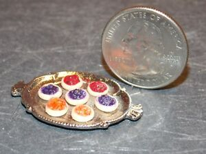Dollhouse Miniature Cookies on Silver Tray 1:12 inch scale H110 Dollys Gallery