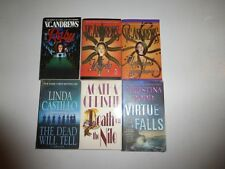 6 Lot Murder Mystery Novels by V.C. Andrews,Agatha Christie,Linda CastilloM9