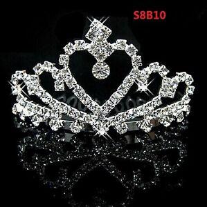 Crown Girl Kids Rhinestone Crystal Tiara Bridal Headband Kids Accessories S8B10