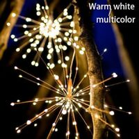 Xmas Decor Solar powered 8 Mode Hanging Starburst Fireworks Fairy String Light