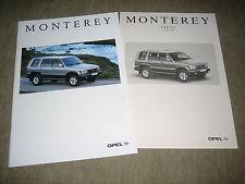 Opel Monterey prospectus brochure 8/1995, 32 pages + liste de prix