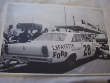 1965 FORD GALAXIE NASCAR  AT RACE 12 X 18  LARGE PICTURE  PHOTO