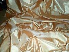 """1 MTR PALE PEACH POLYESTER SILK  LINING FABRIC..44"""" WIDE"""