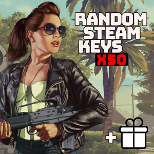 x50 Random Steam Keys Video Game PC Global Fast Delivery + Bonus [Region-Free]