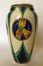 Rare Charles Catteau Boch Frères Keramis Vase- D1113 with floral medallions