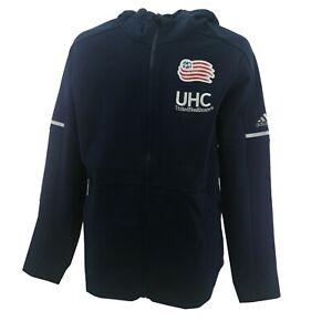 New England Revolution MLS Adidas Youth Size Full Zip Sweatshirt Hoodie New Tags