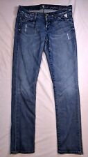 7 For All Mankind Josefina Skinny Boyfriend Jeans Manufacturer Distressing Sz 26
