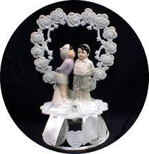 "Wedding Cake Topper adorable 1950  ""The Little Rascals"" Spankie & Darla Figurine"