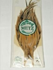 New listing Metz Vintage Ginger Golden Badger Rooster Cape Neck #3 Feathers Dry Fly