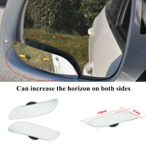 2PCS Car Auto Reversing Wide-angle Lens Round Rearview Mirror Blind Spot Mirrors