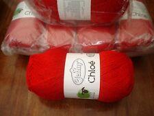 Jenny Chloé Tejido De Lana Yarn Dk Cherry Red Sparkle 6 X 150 gramos @LOOK @