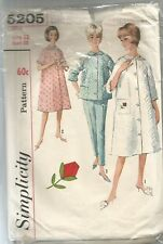 Simplicity Sewing Pattern 5205, VINTAGE ROBE, TOP, PANTS, SIZE 12, 32 BUST