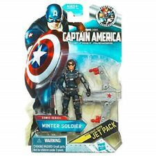 Captain America Winter Soldier Bucky Figure & Jetpack Marvel Comics Hasbro NEW