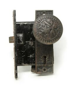 Antique Sargent Vernacular Bronze Door Knob Set