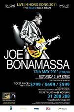 "JOE BONAMASSA ""BLUES ROCK TITAN"" LIVE IN HONG KONG 2011 CONCERT TOUR POSTER"