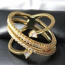 Gorgeous Diamond Fashion Ring Wedding Engagement Yellow Gold Jewelry Size 7