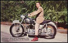 VINTAGE TRIUMPH MOTORCYCLE FACTORY PROMO POSTCARD BROCHURE 1956 THUNDERBIRD NOS