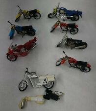 New ListingVintage ?1970s? Die-Cast Toy Collection Lot Of (8) Motorcycles Dirt Bike