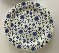 Pier 1 Imports Dinner Plates Floral Blue White Chintz Ceramic Italy Set of 4 NEW