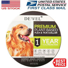 DEWEL Pro Guard Flea and Tick Collar for Large Dog Pets Over 8 Month Protection