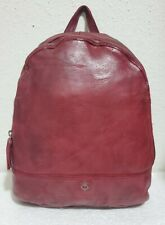 NWT Harbor 2nd Women's Vintage Washed Burgundy Red Leather Backpack