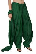 Green Patiala Salwar With Dupatta Set For Kameez Kurti Pure Cotton Indian Women