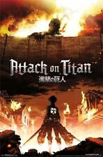 ATTACK ON TITAN - FIRE VIDEO GAME POSTER - 22x34 MANGA 13799