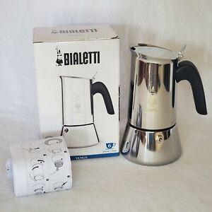 Bialetti Venus Induction, Stovetop Coffee Espresso Maker 6 cup, 18/10 Steel