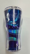 20 oz. INSULATED TUMBLER QUANTUM OF THE SEAS, COCA-COLA, COLD DRINK CUP WITH LID