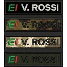 [Patch] NOME ESERCITO ITALIANO EI softair cm 11 x 2,5 toppa ricamata ricamo -151