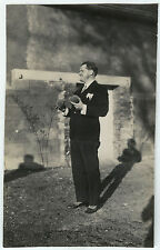 PHOTO ANCIENNE - PÉTANQUE LYONNAISE JEU LOISIR - MAN PLAYING - Vintage Snapshot