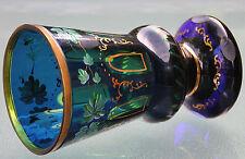 Glaspokal - Becherglas - Pokal , handbemalt wohl Böhmen um 1900 , Topzustand  !