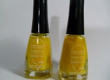 LOT DE 2 VERNIS FLUO JAUNE FASHION MAKE-UP NEUFS