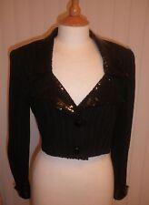 Allen & Eve designer fitted short Jacket - Black 8 - Vintage retro