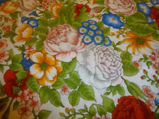 Stunning RED, BLUE, YELLOW, GREEN FLORAL Fabric (55cm x 50cm)