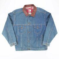 Vintage MARLBORO COUNTRY STORE  Blue American Cotton Outdoor Jacket Mens XL