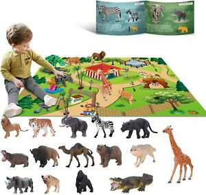 Jouets pour Animaux 3 4 5 6 Ans Enfants Jungle Wild Set Jouets...