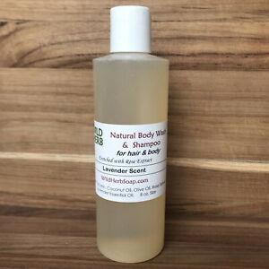 8 oz NATURAL ORGANIC LIQUID BODY WASH & SHAMPOO | Choose Scent | Made in USA