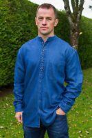 Traditional Irish Civilian Grandfather Shirt Denim 100% Cotton sw1601