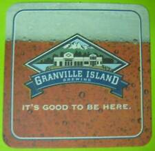 GRANVILLE ISLAND CLUBHOUSE Beer COASTER, MAT, Vancouver, BC, CANADA, BC-GRAN-52A