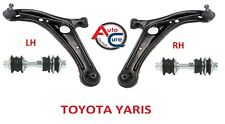 TOYOTA YARIS  2 x FRONT LOWER WISHBONE SUSPENSION ARMS + 2 x LINKS 1999-05