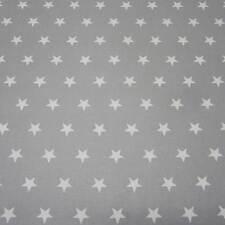 Stoff Baumwollstoff beschichtet Sterne grau weiß groß abwaschbar Tischdecke