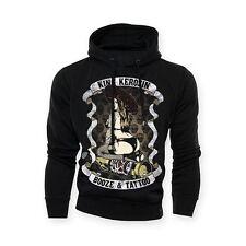 Sweat-shirt À Capuche Homme King Kerosin Bozie & Tatouage Biker Coutume Taille L