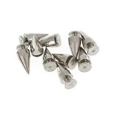 10 pcs New DIY Silver Tone Cone Bullet Spike Rivet Studs Spots Punk AD