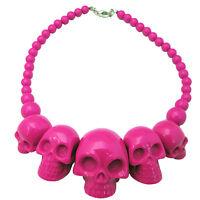 Kreepsville 666 Skull Collection Necklace Pendant Womens Jewelry Pink JNSCPK