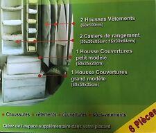Lot de 6 housses de rangements pour armoire  (housses, casiers, boites)  -NEUF-