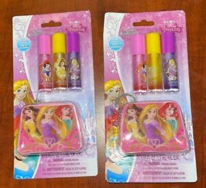 Disney Princess Lip Gloss 3-Pack with Bonus Pouch New Set Of 2