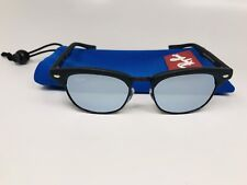 New Ray Ban Jr KIDS RJ 9050S 100S/30 Black Clubmaster with Mirror 45mm w/Bag