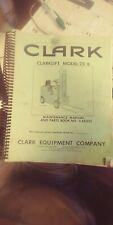 Clark Forklift Model 20 B Maintenance And Parts Manual Book Nox4b625